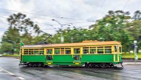 Heritage tram on La Trobe Street in Melbourne, Australia Stock Photos