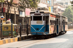 Heritage tramways of Calcutta Stock Image
