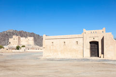 Heritage village in Fujairah. Historic fort and heritage village in Fujairah, United Arab Emirates stock image
