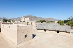 Heritage village in Fujairah. Historic fort and heritage village in Fujairah, United Arab Emirates stock photos