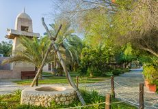 Heritage village. On UAE Abu Dhabi royalty free stock image