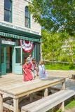 Heritage village salt lake city general store with childrens Stock Photo
