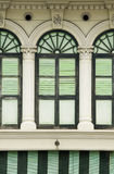 Heritage Windows and Shutters, Penang, Malaysia Stock Photography
