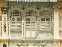 Heritage Windows, Singapore Stock Photo
