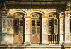 Heritage windows in sunlight Royalty Free Stock Image