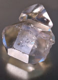 Herkimer diamonds. Close-up of two herkimer diamonds Royalty Free Stock Photography