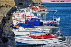 HERKLION, GRECIA - SEPTIEMBRE DE 2012: Puerto, Creta Fotografía de archivo libre de regalías