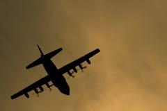 Herkules-Flugzeug Lizenzfreies Stockbild