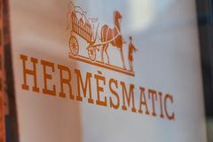 Hermèsmatic, Hermès lava servicio foto de archivo