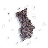 Herm del mapa de la forma del grupo de la gente libre illustration