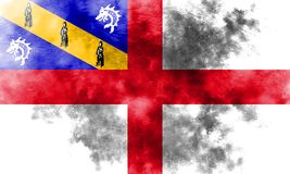 Herm grunge flag, United Kingdom dependent territory flag.  Stock Images