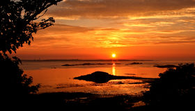 Herm Island sunset Royalty Free Stock Photos