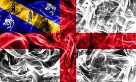 Herm smoke flag, United Kingdom dependent territory flag.  Stock Images