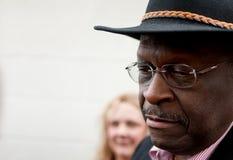 Herman Cain en pensamiento Imagen de archivo libre de regalías