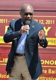 Herman Cain op de Stomp Stock Afbeeldingen