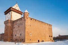 Herman castle in Narva. Estonia. Winter season Royalty Free Stock Photography