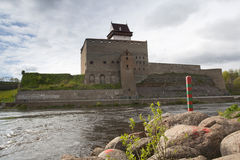 Herman Castle on the Narva river. Stock Images