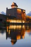 The Herman castle of white night. Estonia Stock Photos