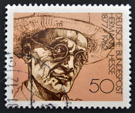 Herman Hesse. A stamp printed in Germany shows Nobel Prize winner for literature Hermann Hesse stock photos