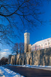 Herman Tower and Parliament building. Tallinn, Estonia Stock Images
