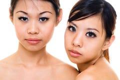 Hermana asiática hermosa Imagen de archivo libre de regalías