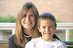 Hermana del hermano Foto de archivo