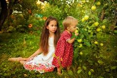Hermana en el jardín Imagenes de archivo