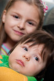 Hermana y hermano Foto de archivo libre de regalías