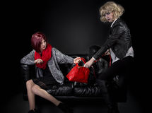 Hermanas celosas de moda Imagenes de archivo