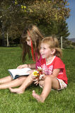 Hermanas en el parque Fotos de archivo libres de regalías