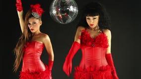 Hermanas femeninas del baile del disco de Beautfiul metrajes