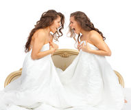 Hermanas gemelas Foto de archivo libre de regalías
