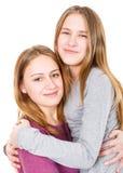 Hermanas jovenes felices Fotos de archivo libres de regalías