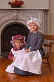 Hermanas pasadas de moda Imagen de archivo libre de regalías