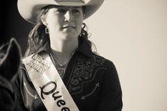 Hermanas, reina Emily Clark del rodeo de Oregon Fotos de archivo