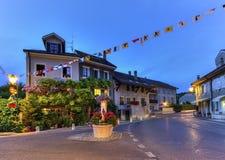 Hermance village fountain, Geneva, Switzerland Royalty Free Stock Photography