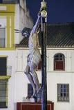 Hermandad del Cristo de Burgos, a Semana Santa em Sevilha foto de stock royalty free