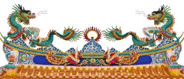 Hermane la estatua de dragones en la azotea Imágenes de archivo libres de regalías