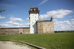 Hermann Castle in Narva - Estonia Stock Image