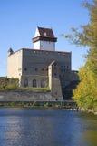 Hermann castle sunny september day. Estonia Royalty Free Stock Photo