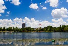 Hermann parkuje jezioro, Houston, Teksas, usa Zdjęcia Stock