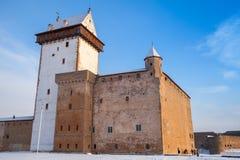 Hermanni linnus or Herman castle in Narva. Estonia Royalty Free Stock Photography