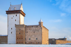 Hermanni linnus or Herman castle. Narva town. Estonia Stock Photos