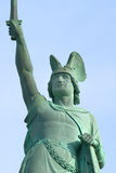 Hermannsdenkmal. The German freedom stature Stock Photos