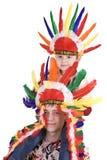 Hermano dos en traje indio. Fotos de archivo libres de regalías