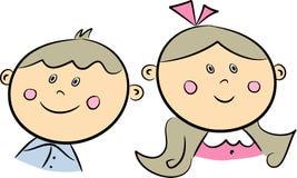 Hermano y hermana ilustración del vector