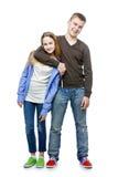 Hermano y hermana adolescentes de la edad Foto de archivo libre de regalías