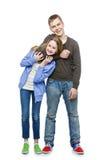 Hermano y hermana adolescentes de la edad Foto de archivo