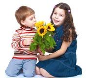 Hermano y hermana de la foto Imágenes de archivo libres de regalías