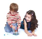 Hermano y hermana de la foto Foto de archivo libre de regalías